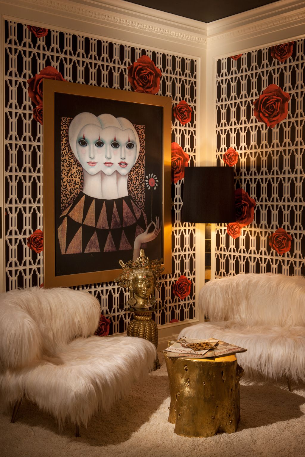 Luxury Showcase For Living Room Royal Art Deco: Our Phyllis Morris-inspired Office For The 2013 Greystone