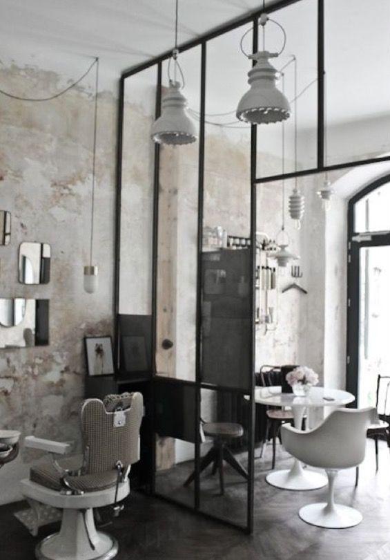 Industrieel salon interieur salon interior in 2019 for Interieur kapsalon
