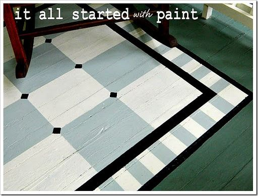 painted porch rug [saving the best for last #porchpaintideas