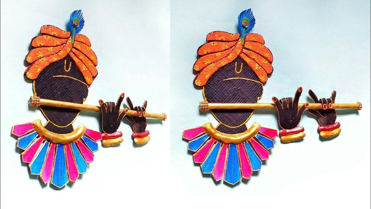 3d Krishna Wall Hanging Diy Wall Decor How To Make