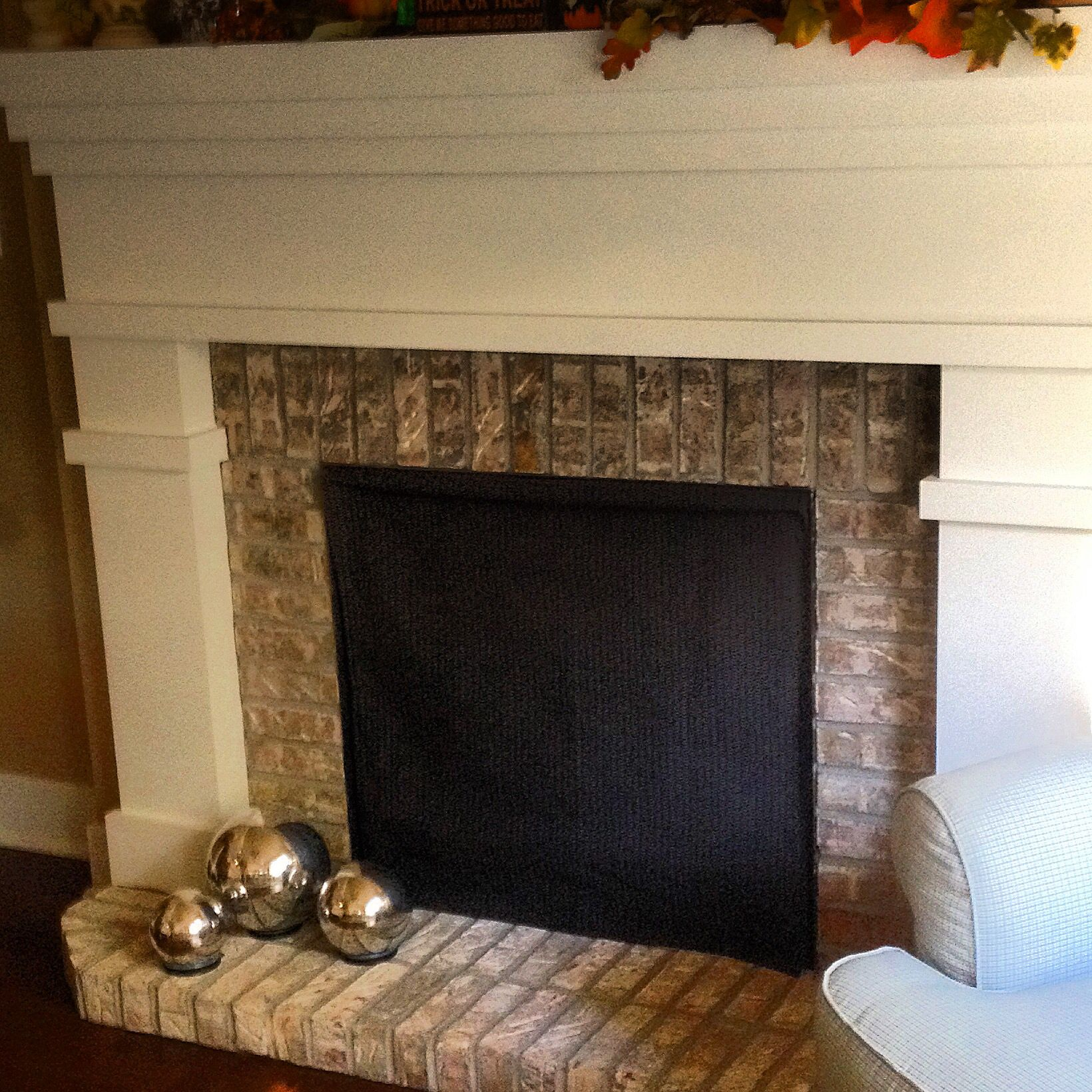 Fireplace Draft Blocker from Etsy.  Great way to keep your room warm this winter.