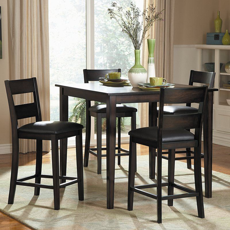 Belknap 5 Piece Dining Set Tall Kitchen Table High Dining Table