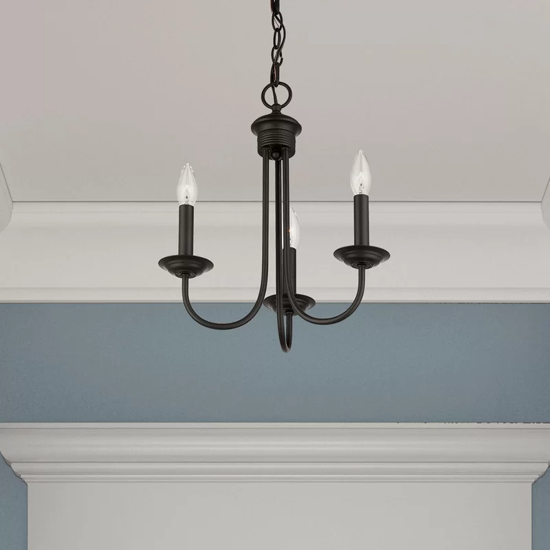 Andover Mills Newby 3 Light Candle Style Classic Traditional Chandelier In 2021 Traditional Chandelier Small Chandelier Candle Style Chandelier