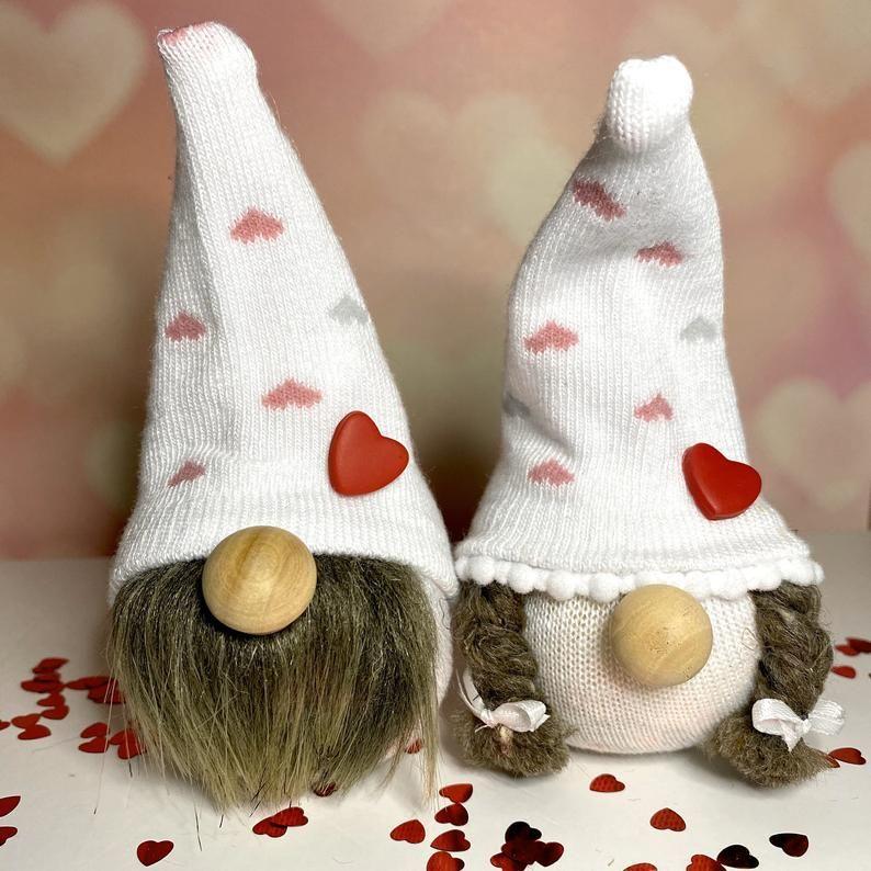 Valentine decor, valentines day, sock gnomes, knick knack, holiday decor #knickknack