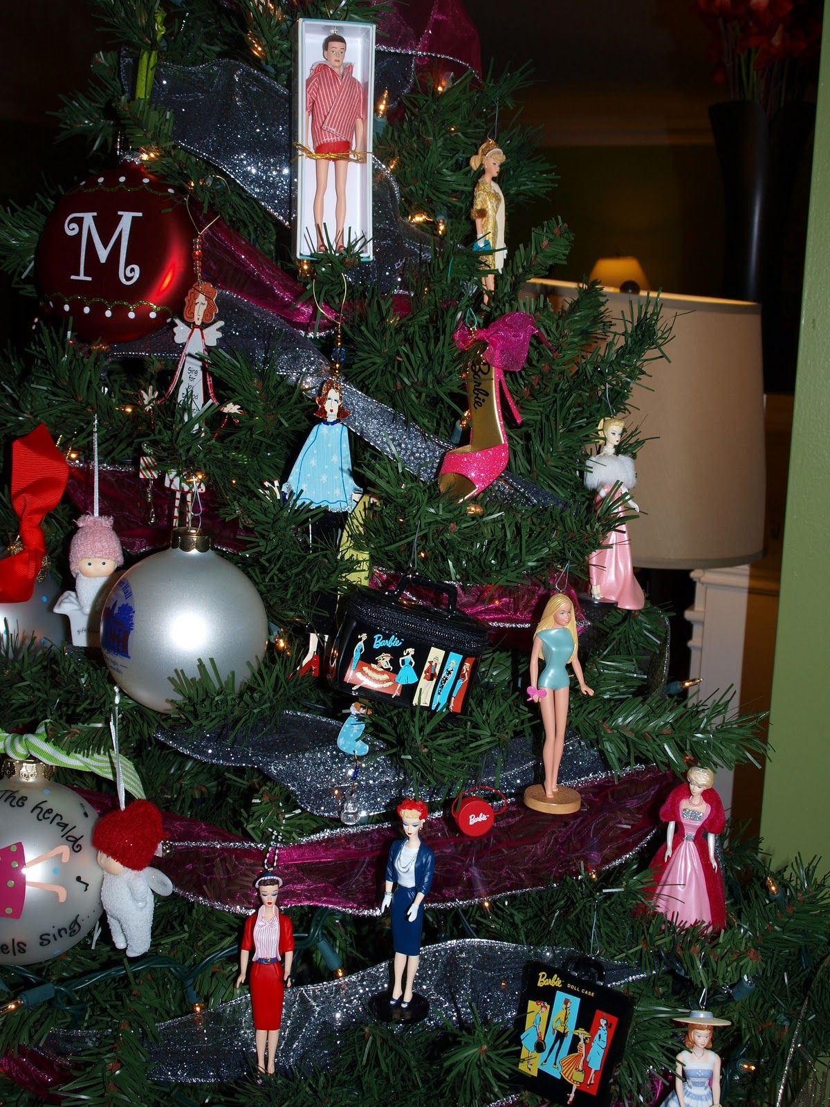 barbie christmas tree