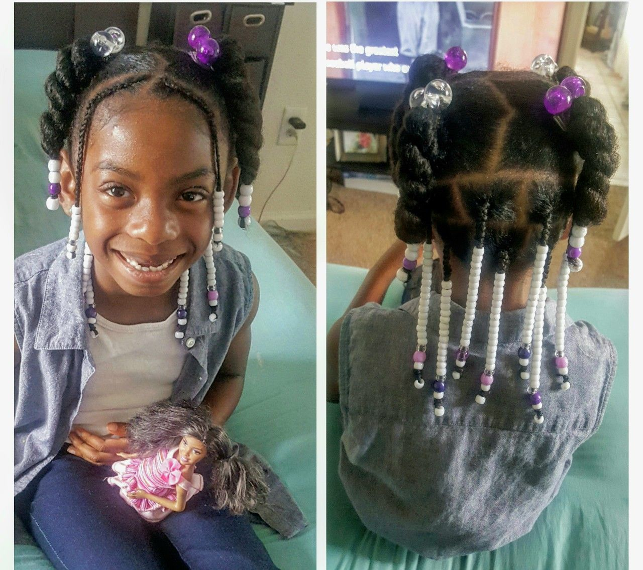 Beads And Bows For Little Black Girls Hair Styles Kids Braided