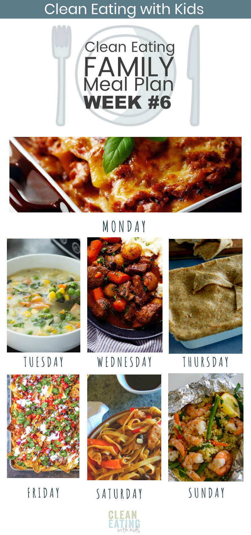 Clean Eating Weekly Family Meal Plan #6 images