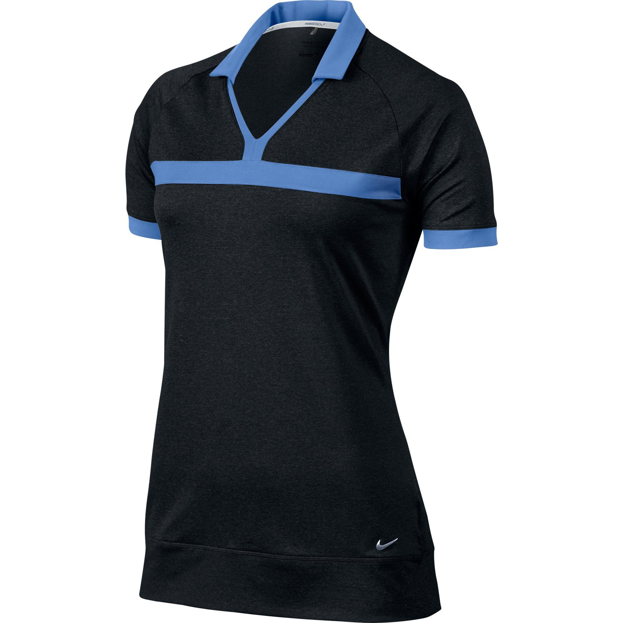 193aa99c4966 Womens Nike Dri-Fit Heather Tunic CLOSEOUT Golf Shirt. 100% polyester. Dri-Fit  material. Keeps you dry and comfortable.