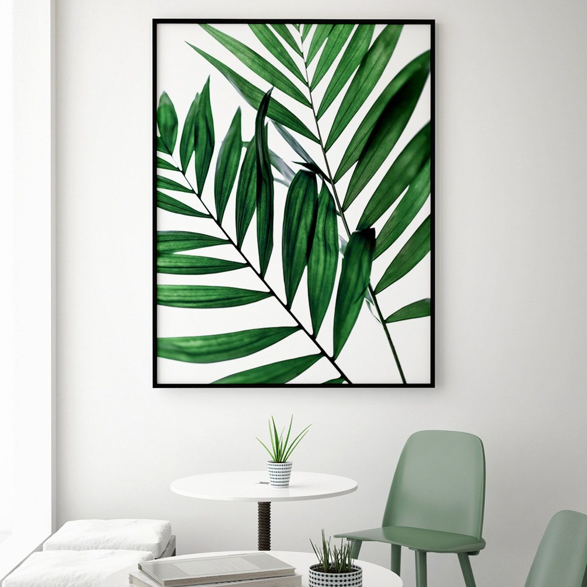 Leaves 5 Art Print In 2021 Tropical Wall Art Tropical Painting Plant Painting