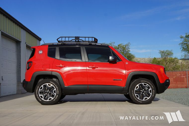 Thule Aeroblade Cross Bars Amp Rhino Rack Xtray Cargo Basket For Our Jeep Renegade Jeep Renegade Red Jeep Jeep