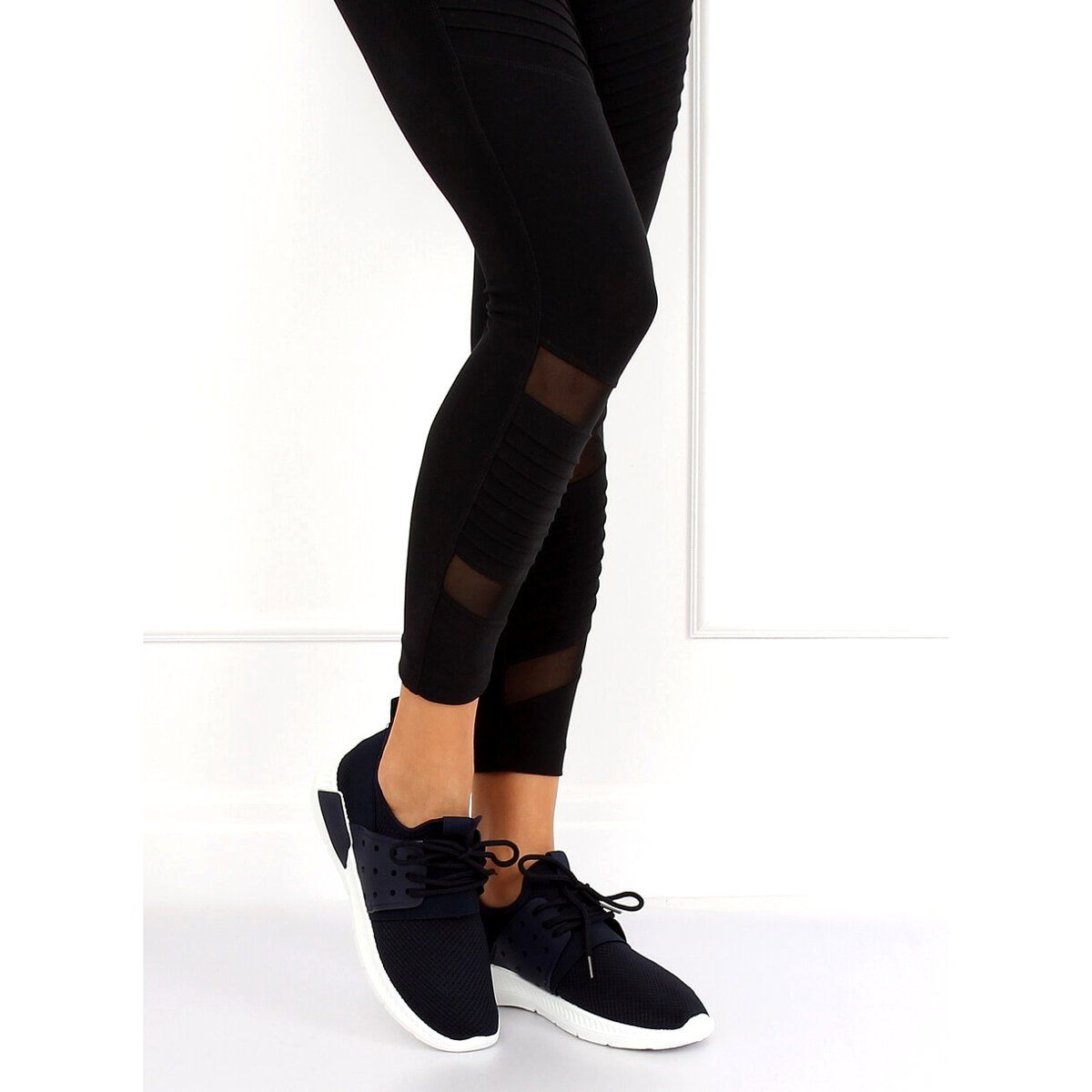 Buty Sportowe Granatowe 7781 Y Blue Fashion Black Jeans Black