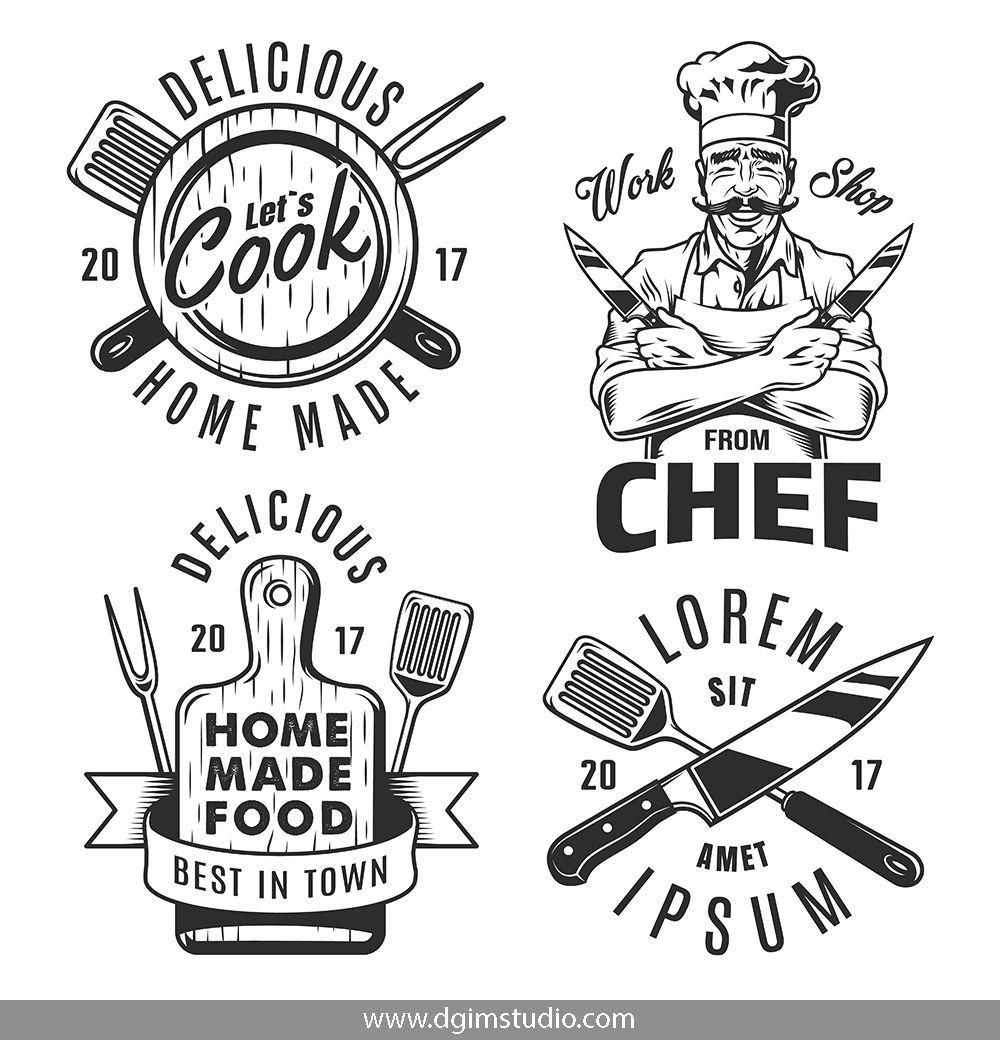 Cooking Emblems Recipe Book Design Resturant Logo Logo Design