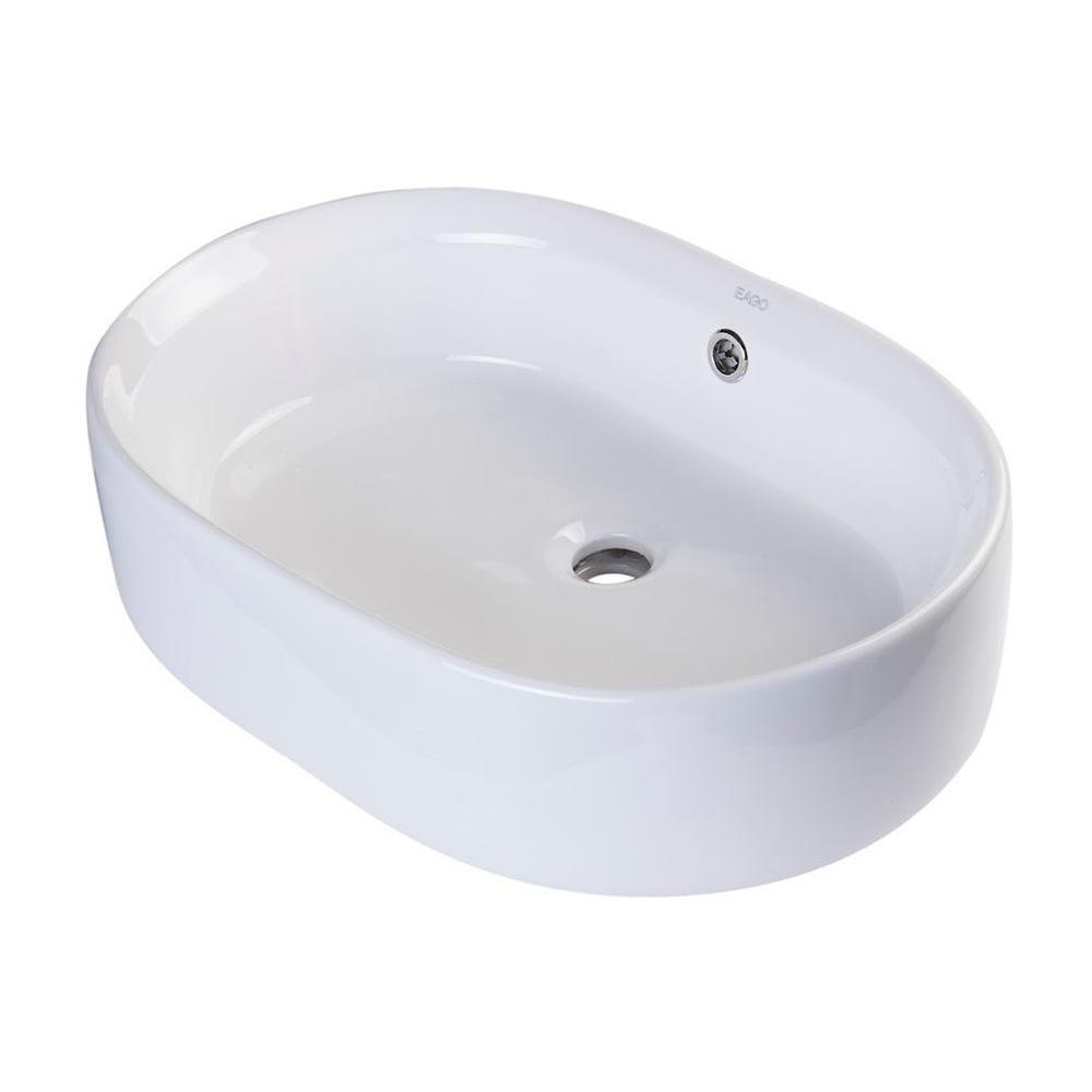 d1a11217c69 EAGO Vessel Sink in White in 2018