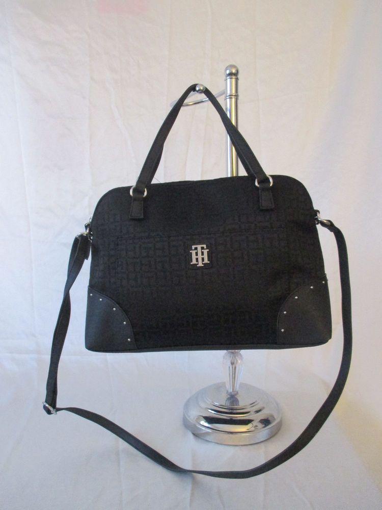 7f64e42ba44 Tommy Hilfiger Black Handbag Purse Authentic Satchel 6936527 990 Brand New  Tags #TommyHilfiger #Satchel