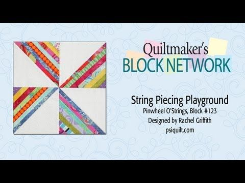 I love the scrapy look of string piecing, and this is a great tutorial and block using this technique! The possibilities are endless with thousands of fabrics to choose from at the Fabric Shack at http://www.fabricshack.com/cgi-bin/Store/store.cgi Repinned: String Piecing Playground