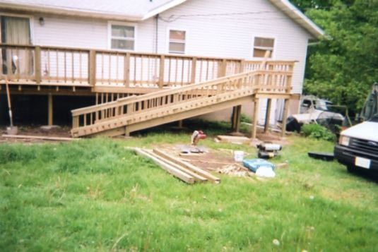 Deck plans with wheelchair ramp | Deck design and Ideas | Yard ...
