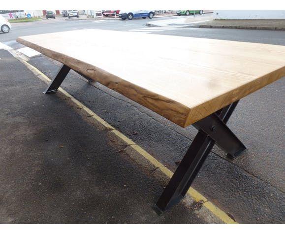 Grande table X IPN plateau brut de 3m salle à manger | Table basse, Pied table basse, Table ...