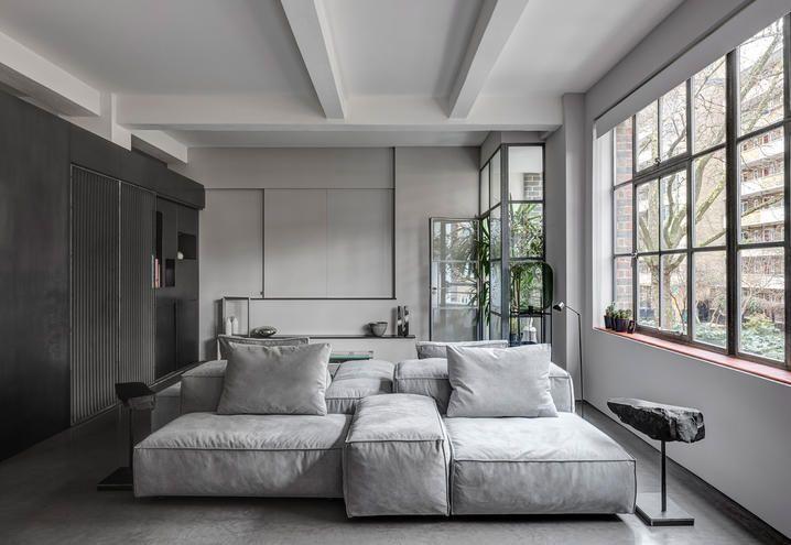 Wohnzimmer Industrial ~ Loft open space a londra atmosfere industrial e design moderno