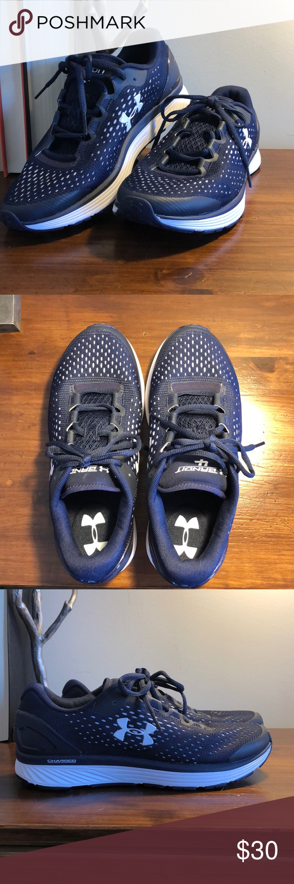 Navy Blue Under Armour Sneakers Brand New Ua Bandit 4 Sneakers Never Worn And In Great Condition Navy Blue With Sneakers Under Armour Shoes Sneaker Brands