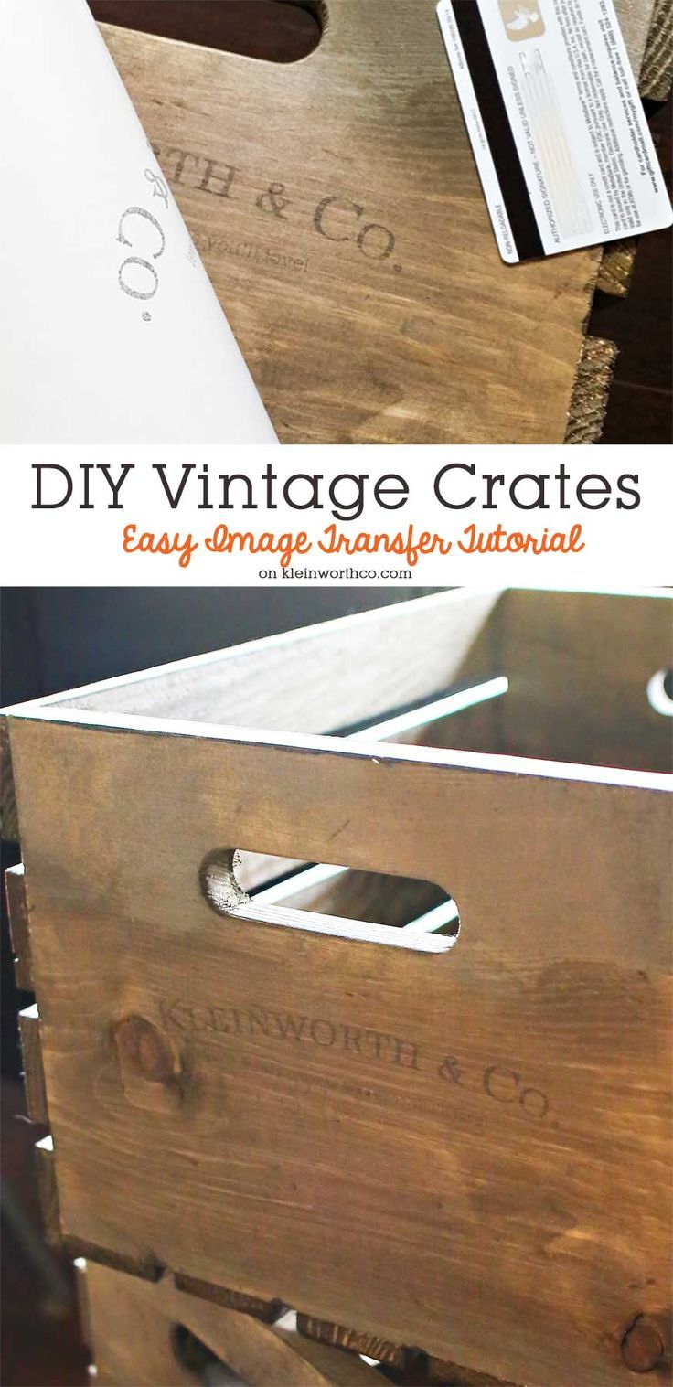 Ideas : Anything with a vintage feel is so popular right now. If you go with modern farmhouse decor, that's even better with popular shows like Fixer Upper. You can create these DIY Vintage Crates with this Easy Image Transfer Tutorial using wax or freezer paper. It's a simple DIY that easily gives that farmhouse look.