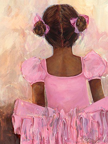 Oopsy Daisy Perfect Ballerina African American Stretched Canvas Wall Art by Kristina Bass Bailey, 18 by 24-Inch ** Learn more by visiting the image link.