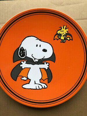 Pottery Barn Kids Snoopy Halloween Dracula Melamine Plate