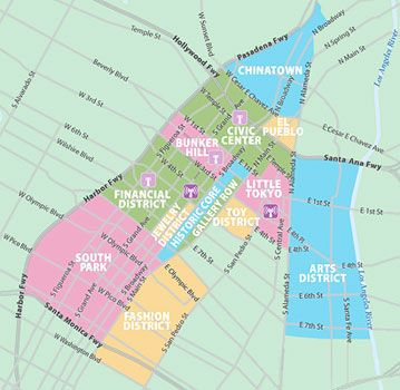downtown la map and neighborhood descriptions downtown los