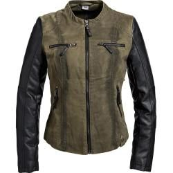 Photo of Jackets with leather sleeves for women