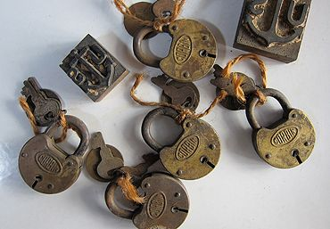 Three Potato Four Corbin Padlocks With Keys And Number Plates Set Of 3 Key Padlock Old Keys