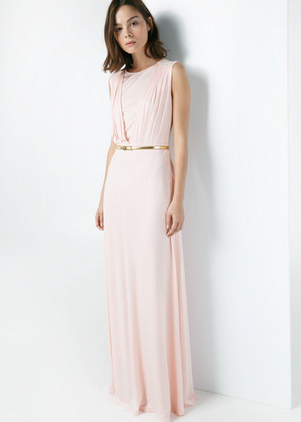 d05fe42c541 Vestidos largos juveniles sencillos Bellos Diseños con Foto! Vestido  espalda encaje