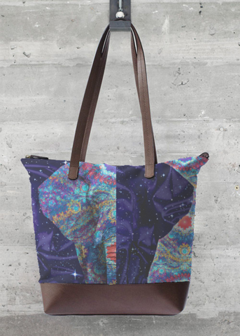 VIDA Foldaway Tote - Golden Dragon by VIDA OqH91W