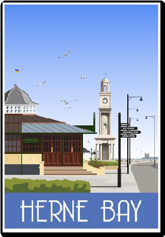 Herne Bay Clock Tower | whiteonesugar.co.uk | Vintage Travel ...