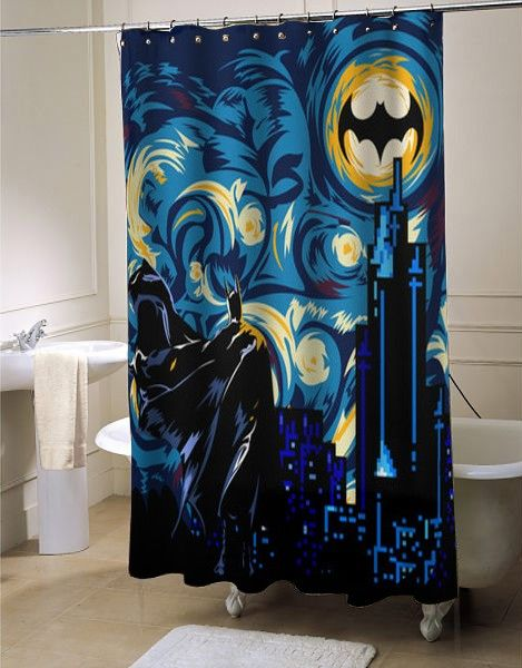 Batman Dark Knight Shower Curtain At Batman Decor Batman Room