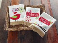 Coming this fall to SMITH's VARIETY! Peace/Joy/Believe Hand Towels (3 Asst) | Living | Mud Pie