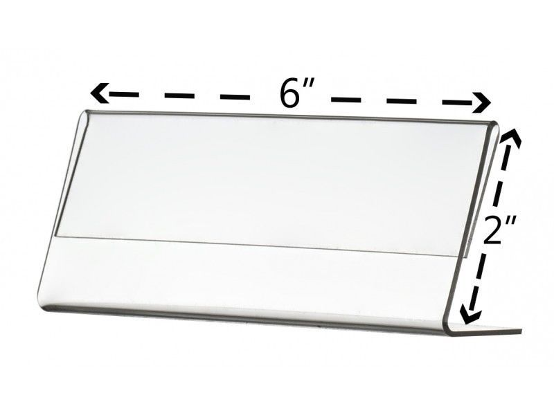 name plate stand acrylic clear desk top name display table tent 6 x