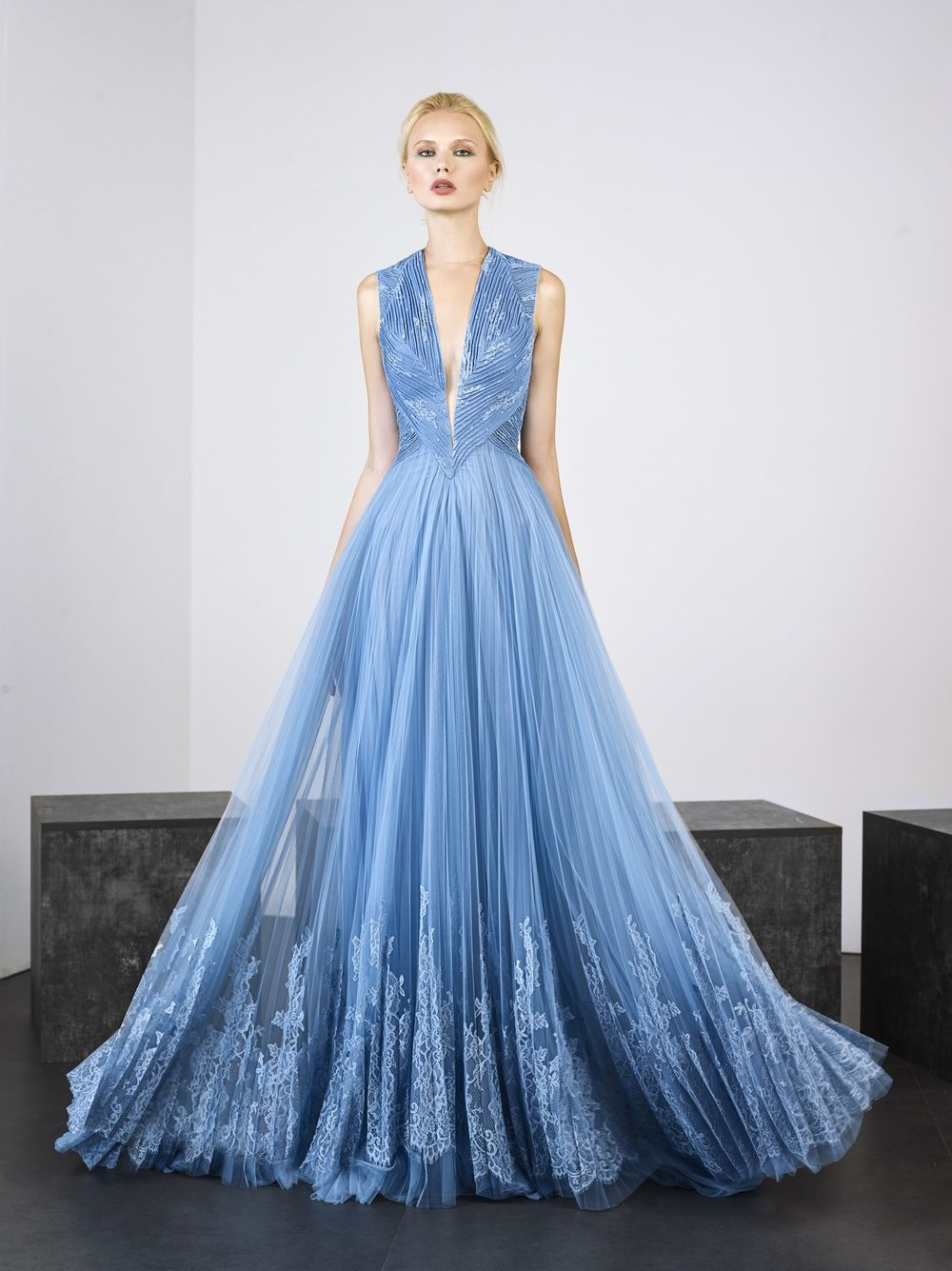 628e1eff13c8 Tony Ward S S 2019  Gorgeous blue gown with silk embroidery!