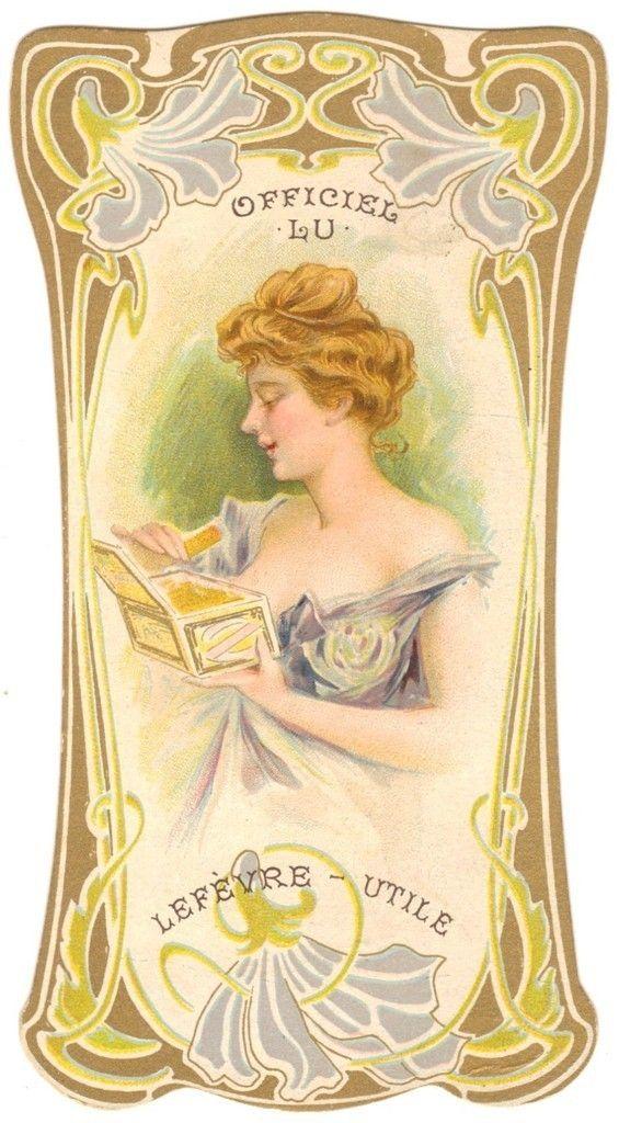 Trade Card Chromo Lu Lefevre Utile Biscuit Officiel Art Nouveau Ebay With Images Art Vintage Illustration Vintage Graphics