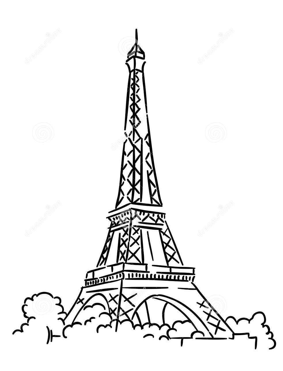 Eiffel Tower Coloring Pages 360coloringpages Torre Eiffel