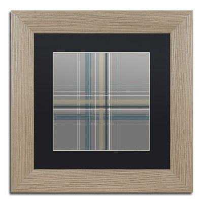"Trademark Art 'Silver Blue Dark' by Jennifer Nilsson Framed Graphic Art Size: 11"" H x 11"" W x 0.5"" D, Matte Color: Black"