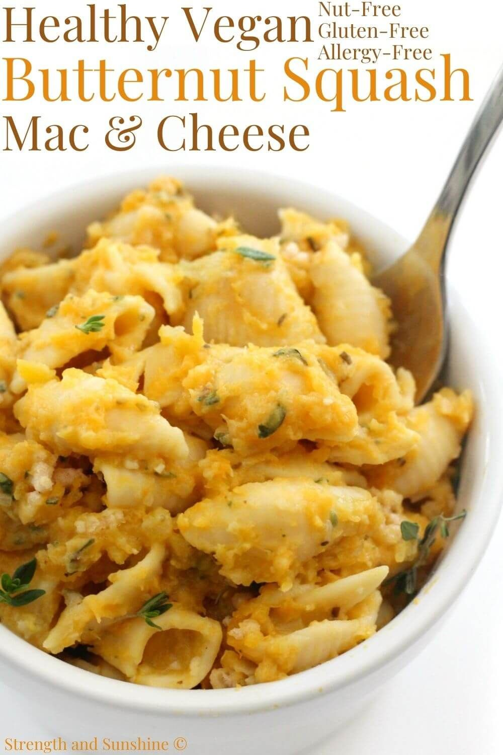 Vegan Butternut Squash Mac And Cheese Gluten Free Allergy Free Recipe In 2020 Butternut Squash Mac And Cheese Recipes Healthy Family Dinners