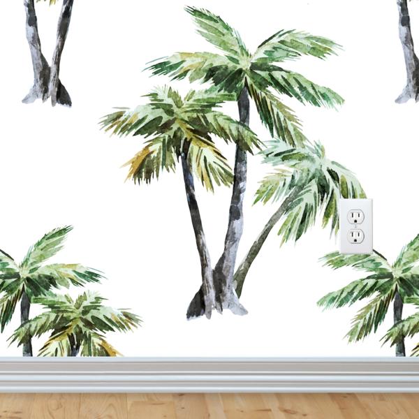Palm Trees Wallpaper Peel Stick Palm Trees Wallpaper Tree Wallpaper Stick Wall Art
