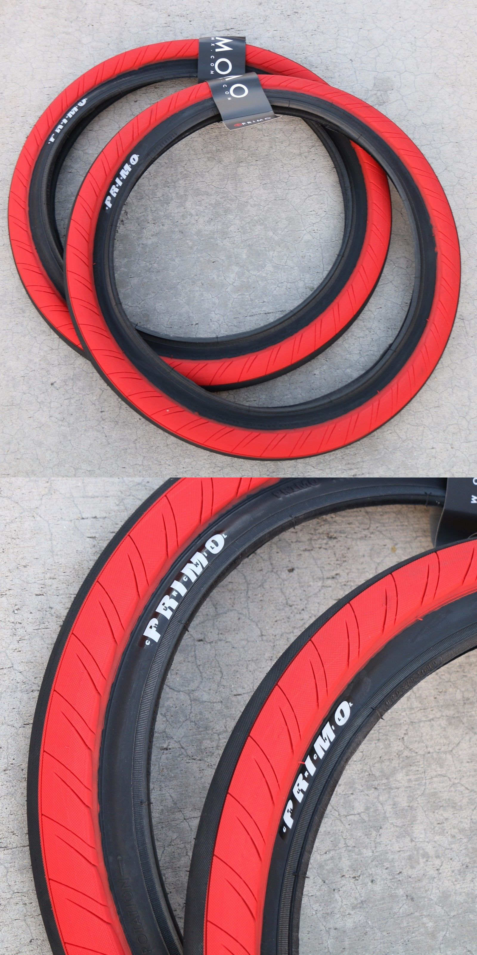 Tires 177828 Pair Of Primo Bmx Bike Stevie Churchill 20 X 2 45
