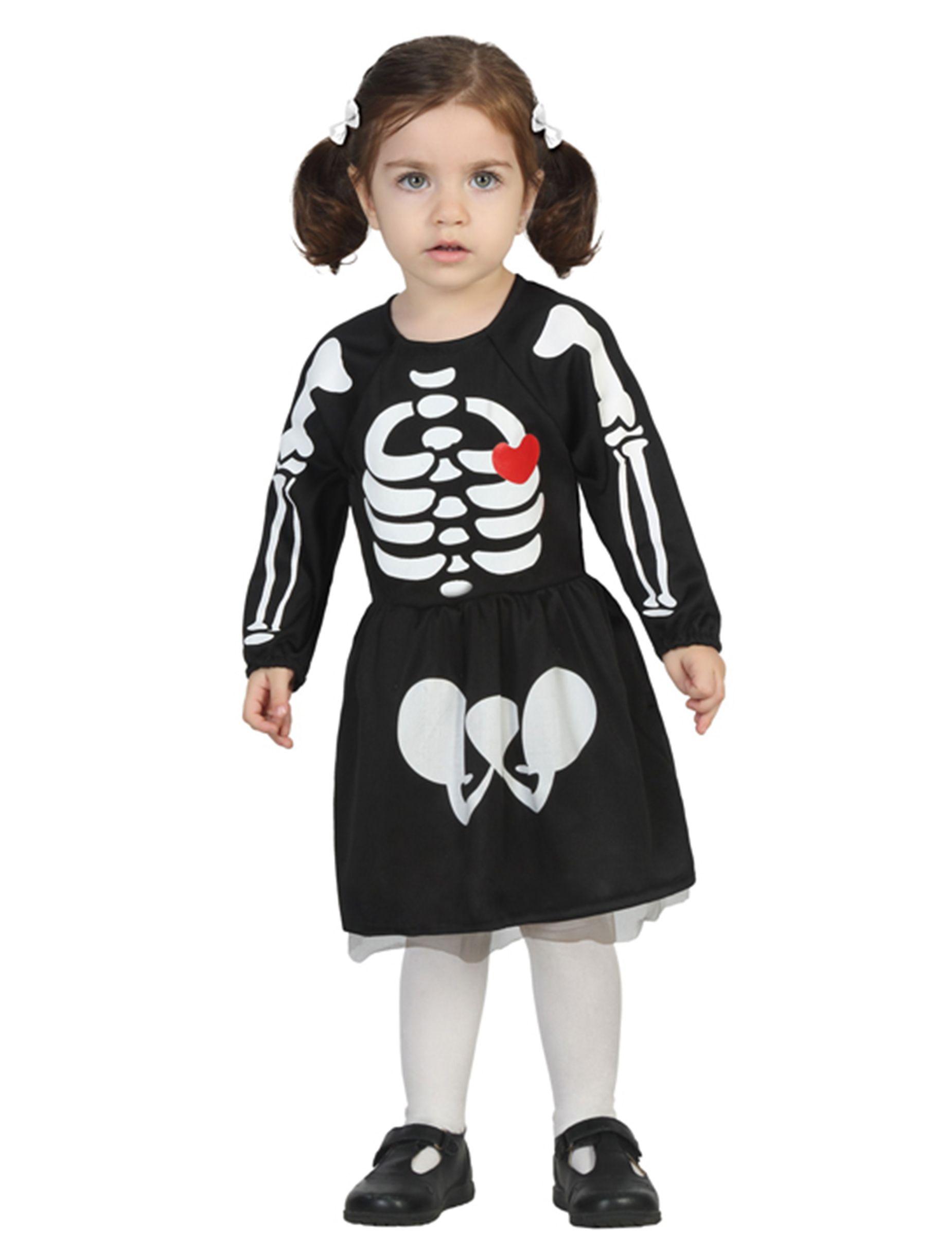 disfraz de esqueleto beb nia halloween este vestido para nia es de esqueleto