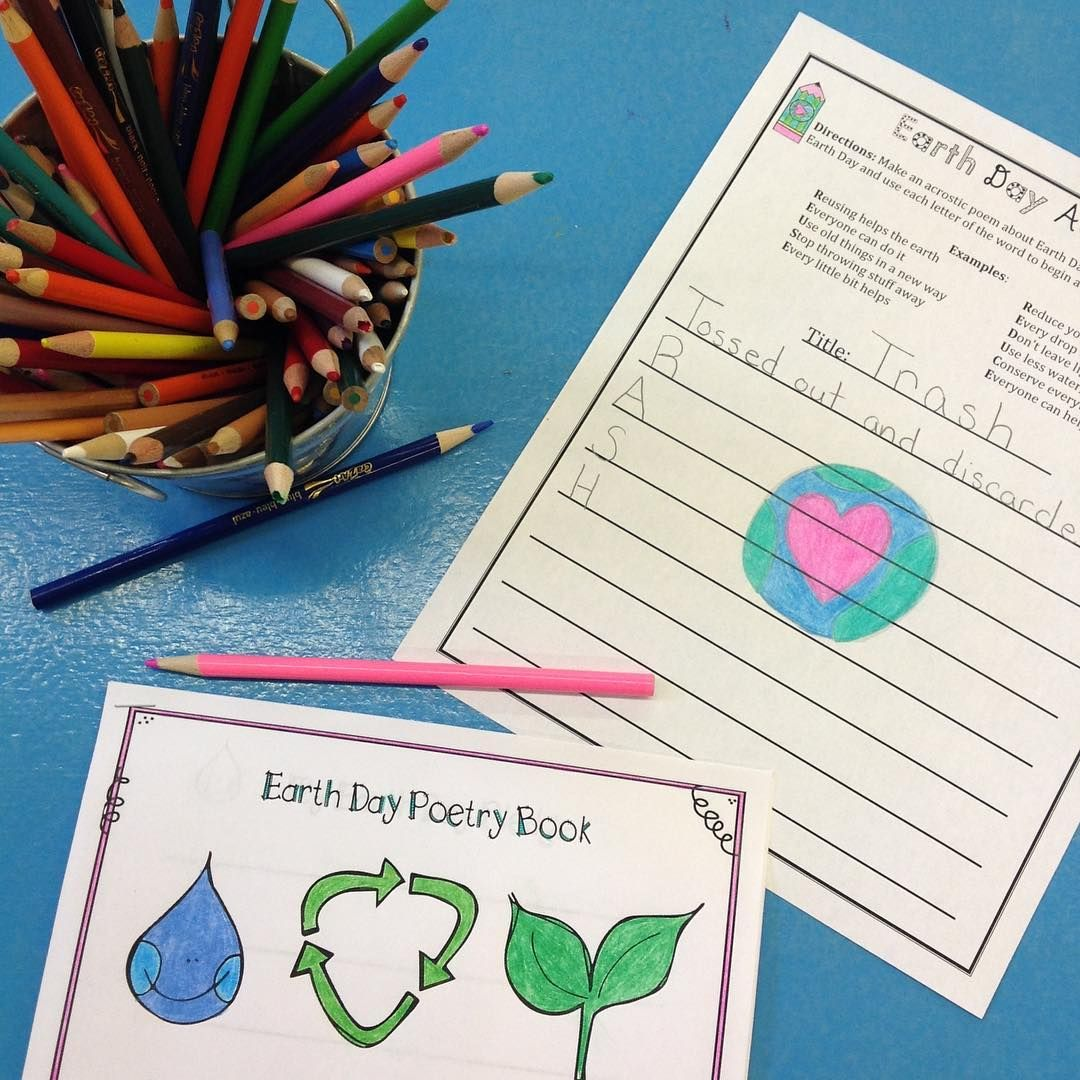 Earth day poetry no prep grades 36 instagram with