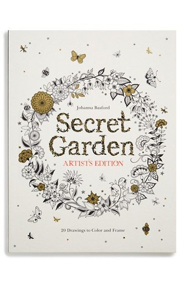 Chronicle Books Secret Garden Artists Edition Coloring Book