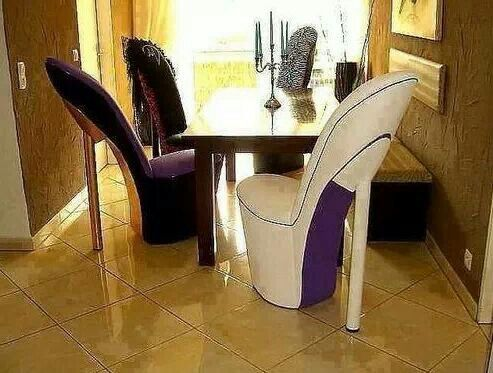 High heel shoes chairs