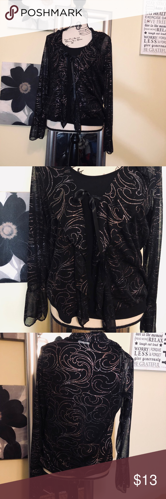 Sparkling black blouse | Black blouse, Fashion bug, Fashion