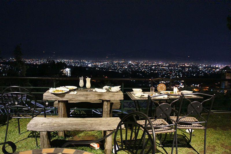Bandung Night View Pemandangan Indonesia Tempat
