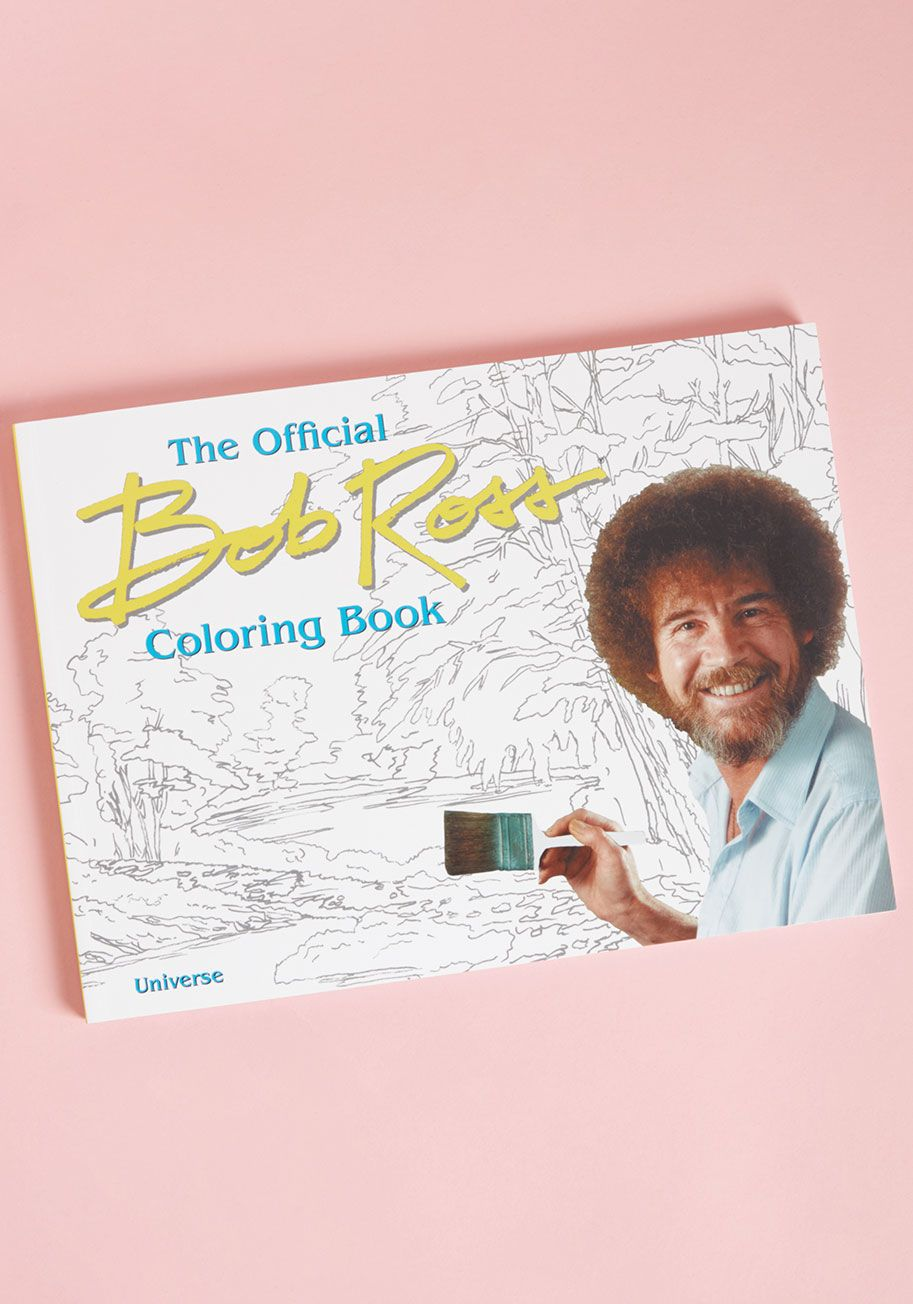 The Official Bob Ross Coloring Book Coloring Books Bob Ross Paintings Bob Ross