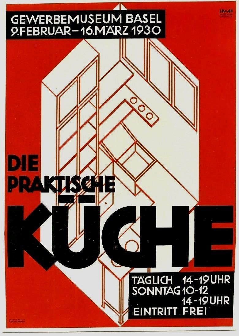 original vintage poster modern kitchen design expo 1930 | graphics